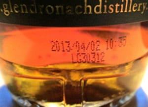 glendronach bottle date
