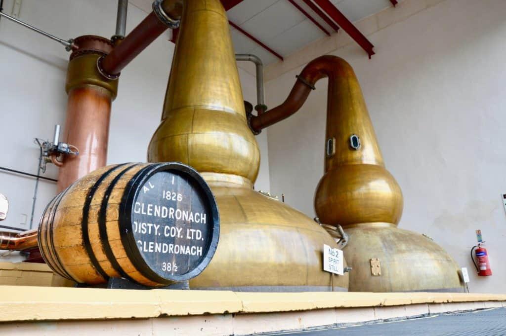 glendronach distillery pot stills
