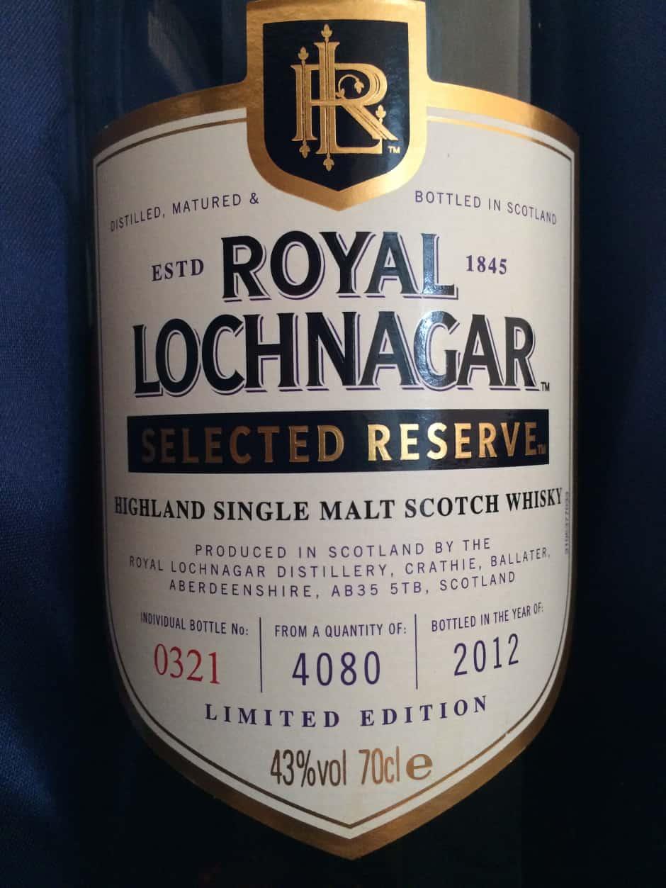 Royal Lochnagar Selected Reserve 2012