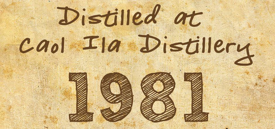 caol ila 1981 thosop label