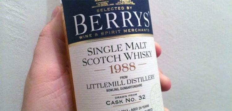 littlemill 1988 2013 #32 berry bros featured