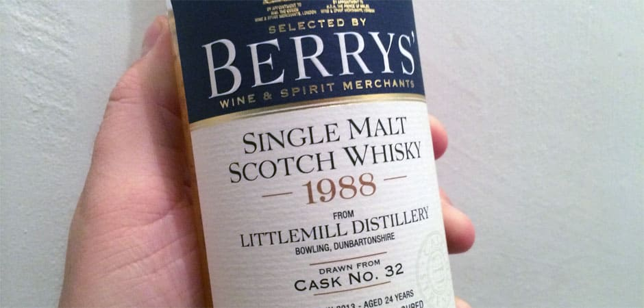 littlemill 1988 2013 #32 berry bros featured