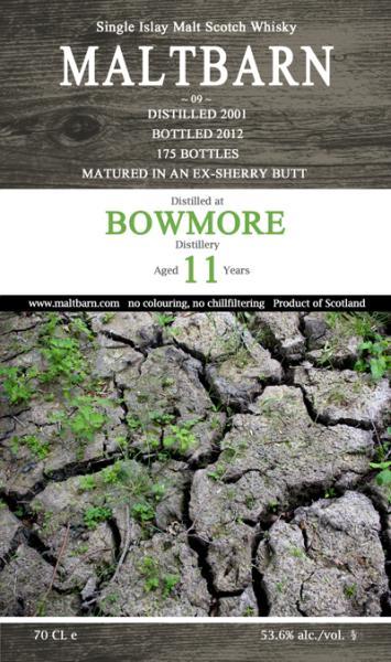 bowmore 2001 2012 Maltbarn