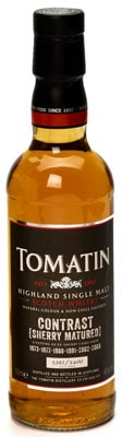 tomatin contrast sherry matured