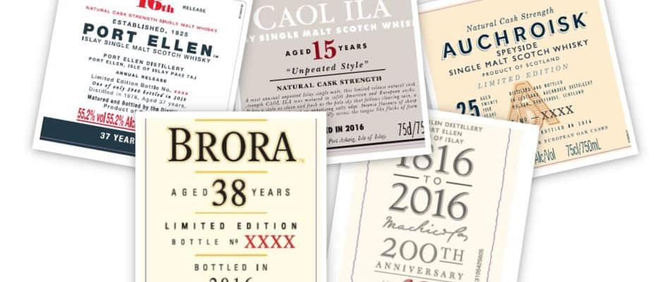 Diageo Special Releases 2016 Port Ellen Brora Lagavulin Caol Ila
