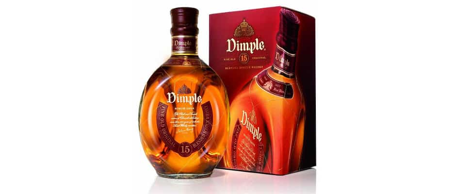 Dimple 15 year old blended scotch whisky