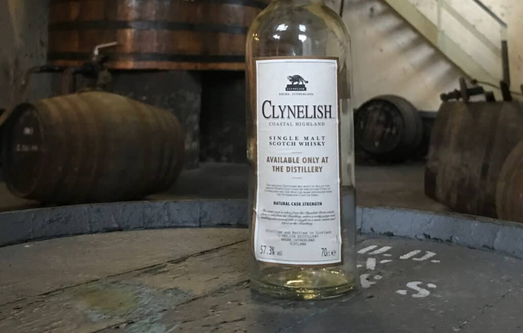 Clynelish fles in Brora filling station