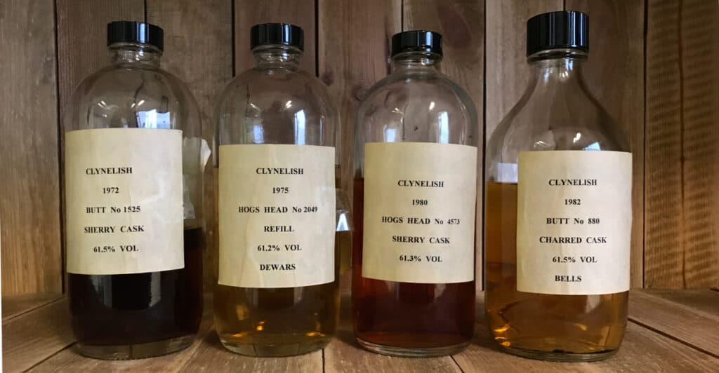 cask samples brora clynelish