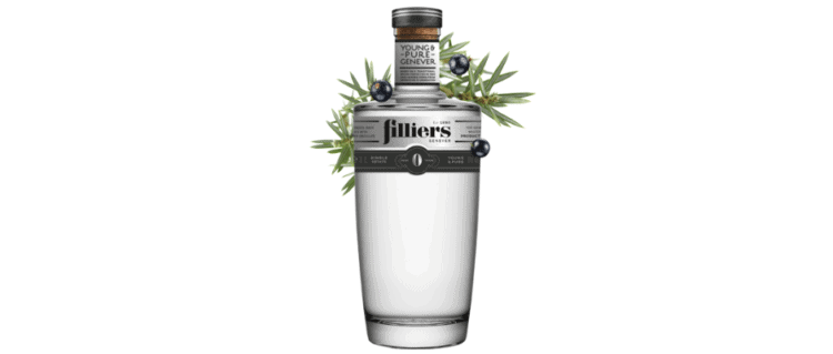filliers 0 years old young & pure genever