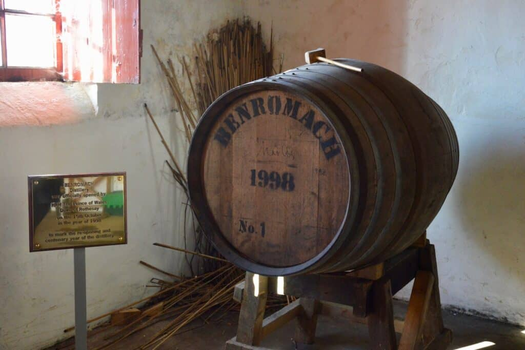 Benromach cask no 1 actual cask