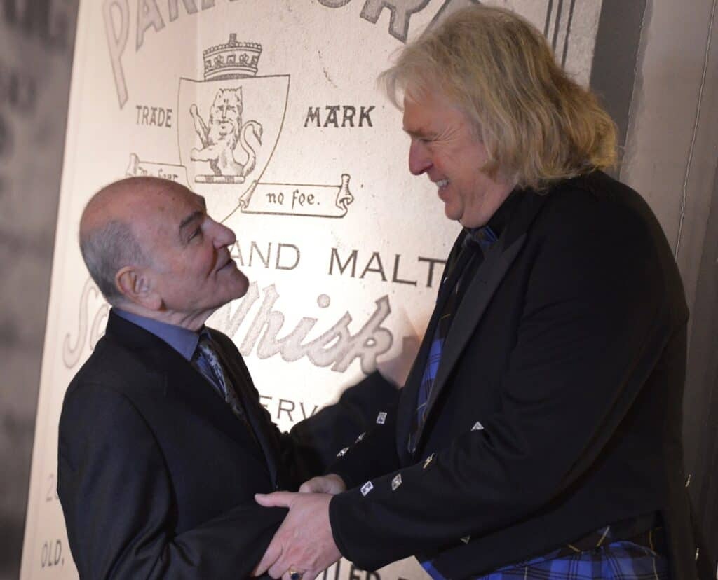 Zagatti with whisky writer Hans Offringa.