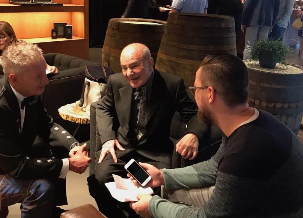 Interviewing Valentino Zagatti. Ronald Zwartepoorte (my boss at Whisky Passion Magazine) on the left.