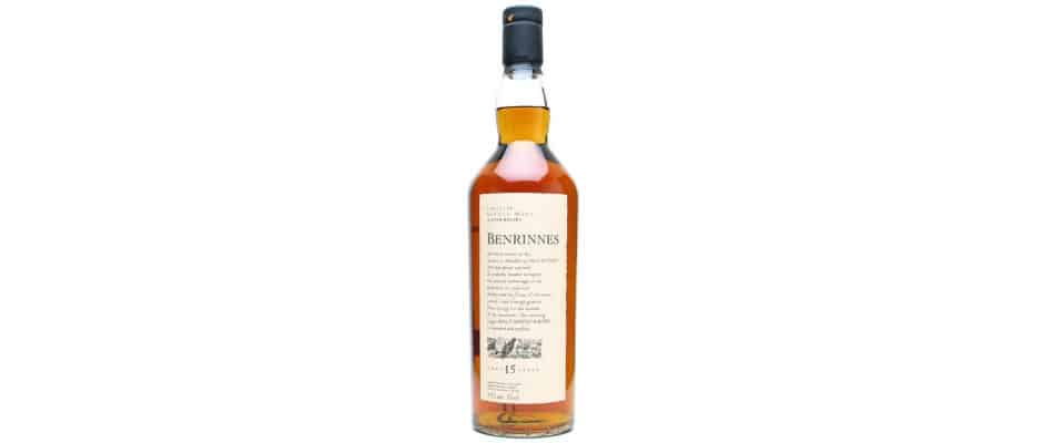 benrinnes 15 years old flora fauna