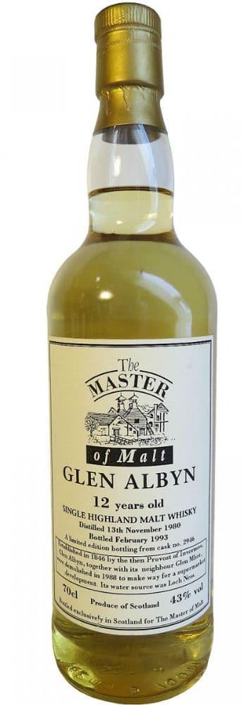 glen albyn 1980 12 years old master of malt 2946