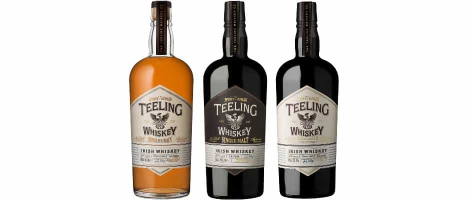 teeling irish whiskey core range trinity collection small batch