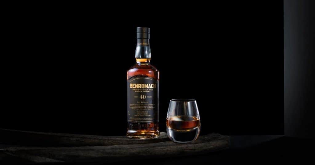 benromach 40 years old 2021 release glass