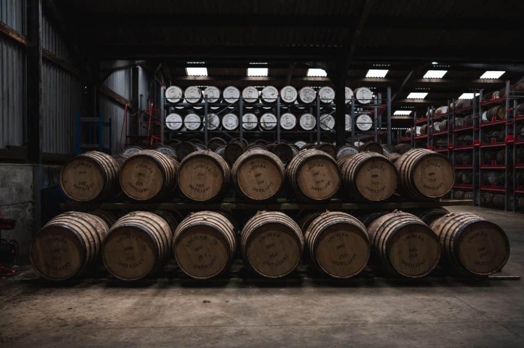 lochlea distillery casks warehouse